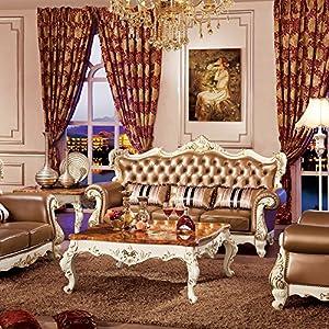 jiawen 嘉文 实木家具 橡木客厅家具 法式欧美风 118组合沙发 (三人