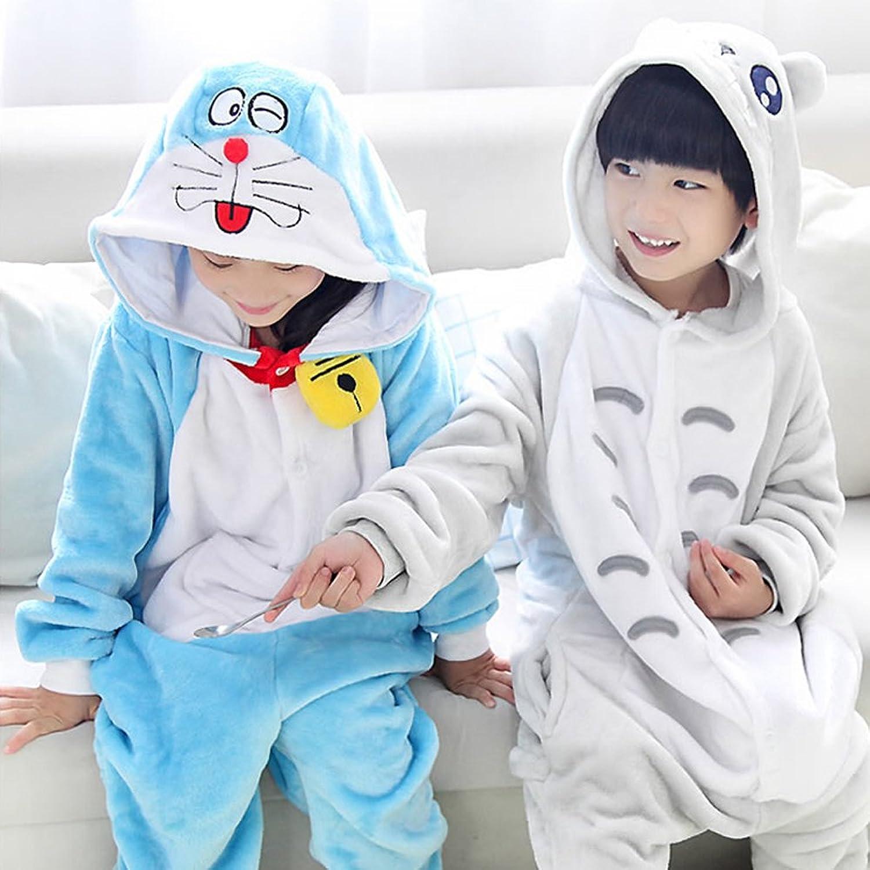 优质法兰绒可爱卡通动物造型儿童家居服 亲子连体睡衣