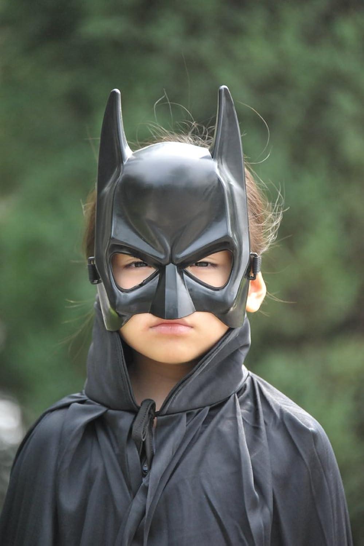 万圣节/服装/装扮/蝙蝠侠/黑色斗篷/眼罩面具/套装 (儿童套装)