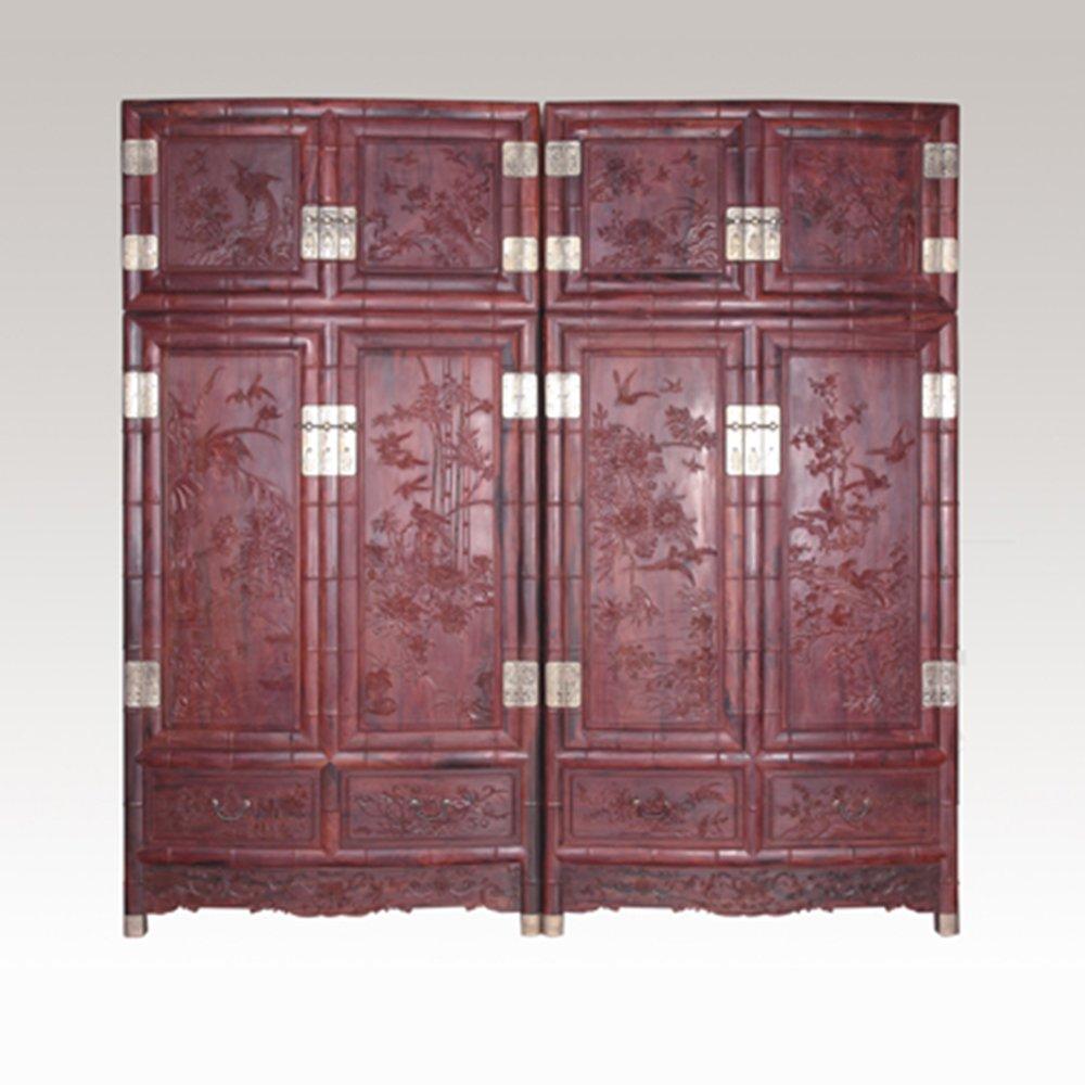 仙游御典红木家具 红木厂家直销 顶箱柜 红木顶箱柜 红酸枝顶箱柜衣柜