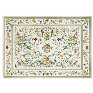 享家棉丝雕花系列多尼尔(欧式田园地毯地垫)脚垫70*120cm 015米色