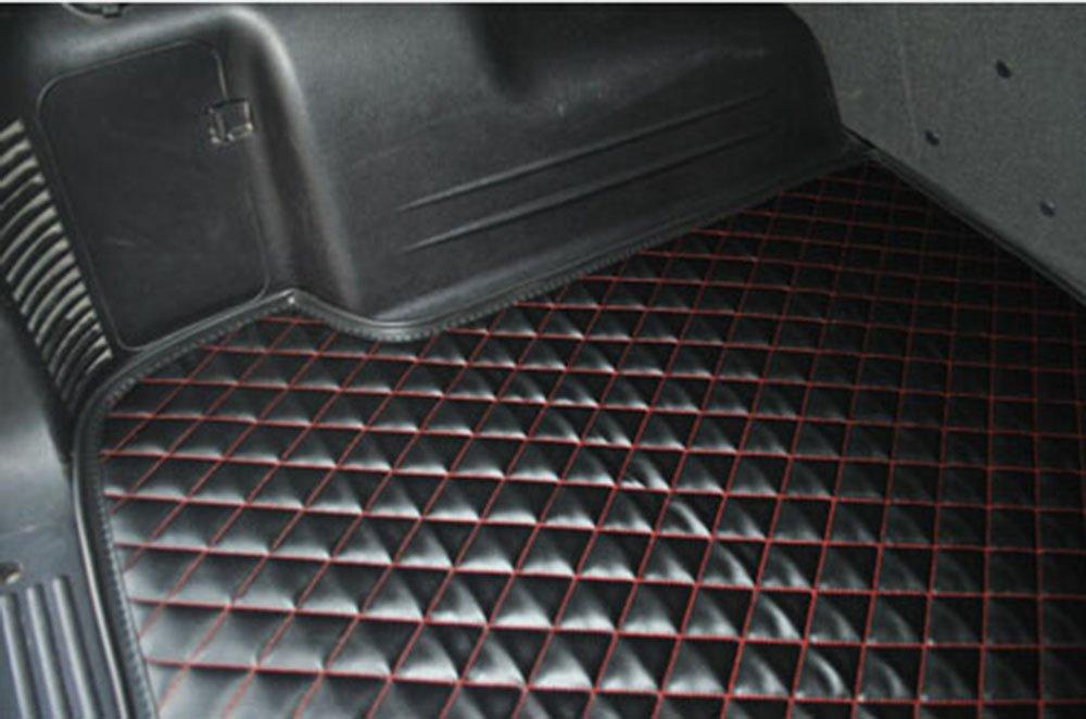 翁氏 专车专用尾后备箱垫子型号 新捷达 小格黑色黑线
