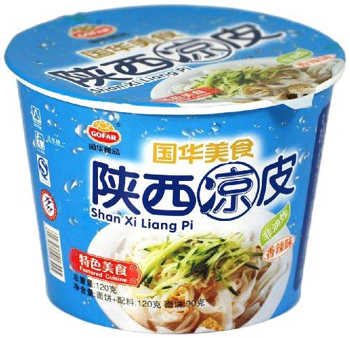 国华食品陕西凉皮碗装香辣味120g