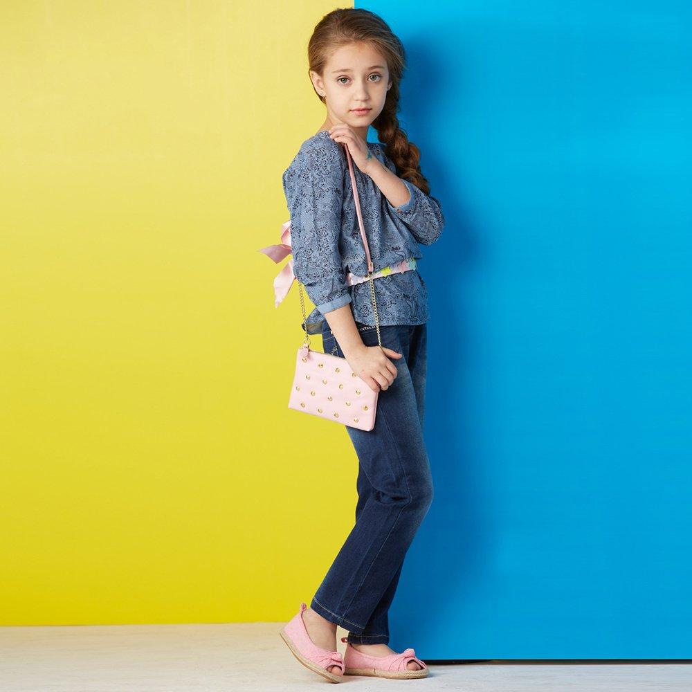 女童牛仔裤中大童女孩修身小脚裤儿童裤子