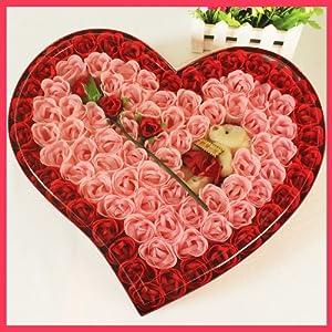 心形香皂花玫瑰礼盒/浪漫感动创意礼品送女友生
