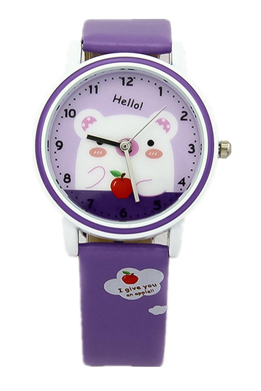 儿童手表时尚可爱卡通小熊皮带防水小