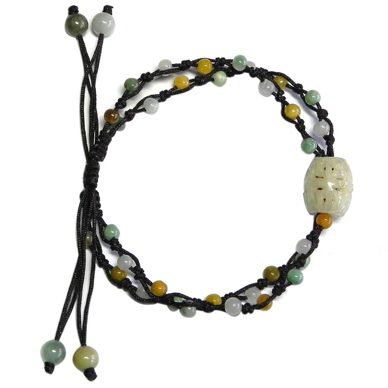 jewelry8zone第八区天然a货翡翠diy手编绳路路通手链个性手链10042318