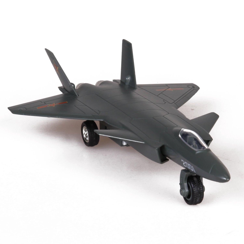 飞机模型 歼二十战机 多色可选 回力 声音 灯光 合金模型儿童玩具