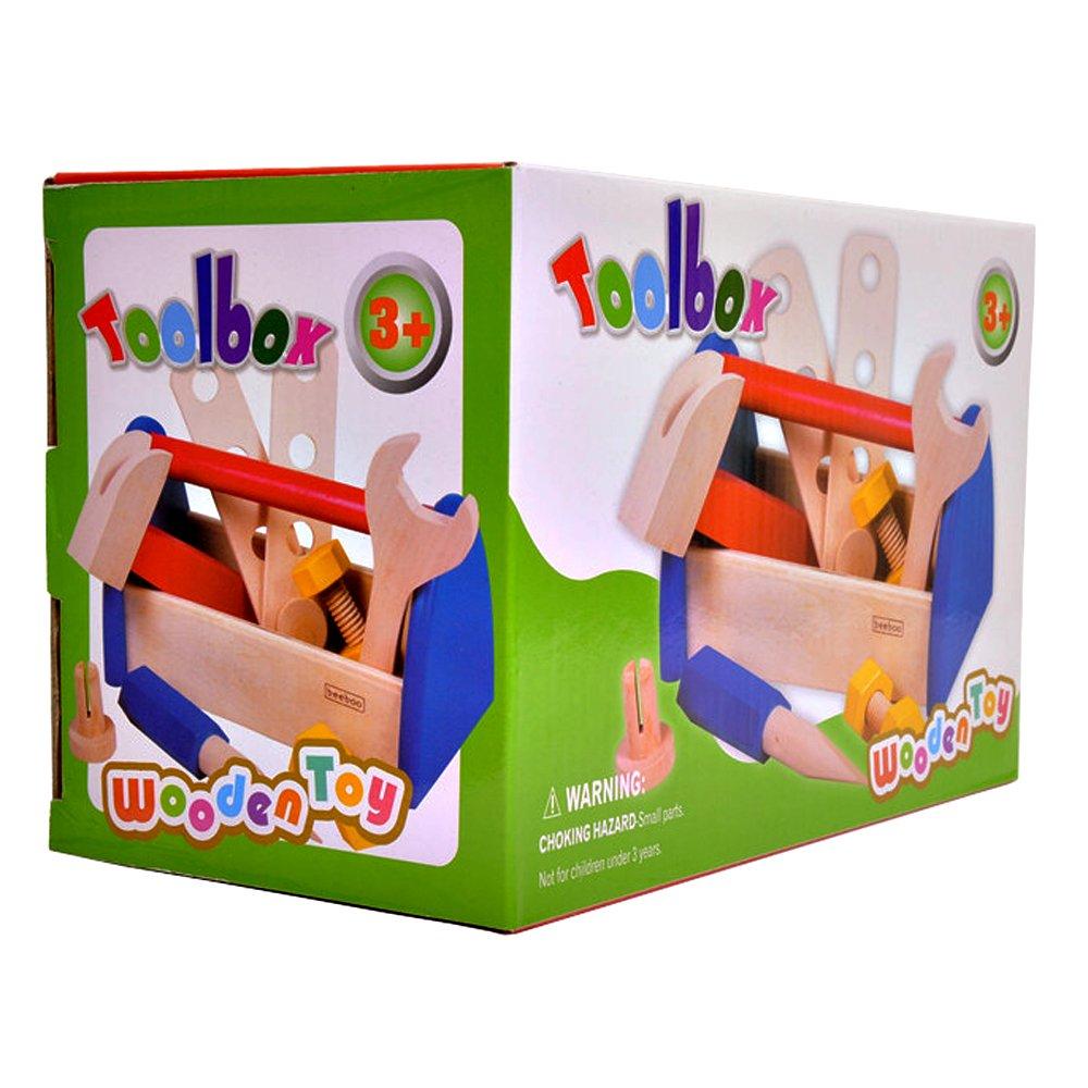 haobei皓贝 儿童木制工具箱玩具 男童过家家工具箱 木制过家家玩具