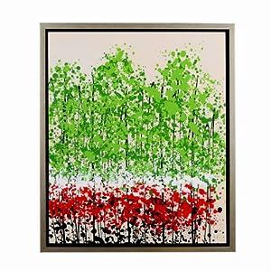 博亿 纯手绘油画 客厅豪华装饰画 高档家装壁画 风景挂画三件套全套