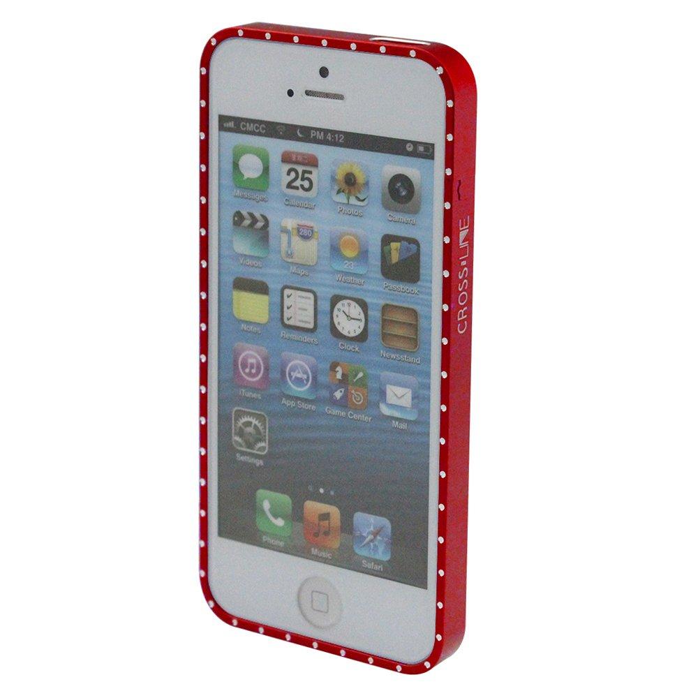 乾甲天 iphone5闪钻手机边框(红色)
