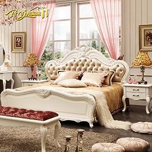 Bmj 邦美居 家具 欧式床 双人床 实木床法式床 田园式公主床包物流BM12 1800mm*200