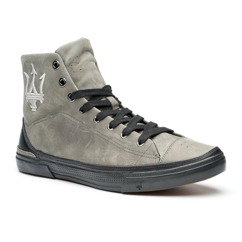 玛莎拉蒂maserati-意大利牛皮-商务板鞋-真皮休闲鞋(高梆)803 (42)