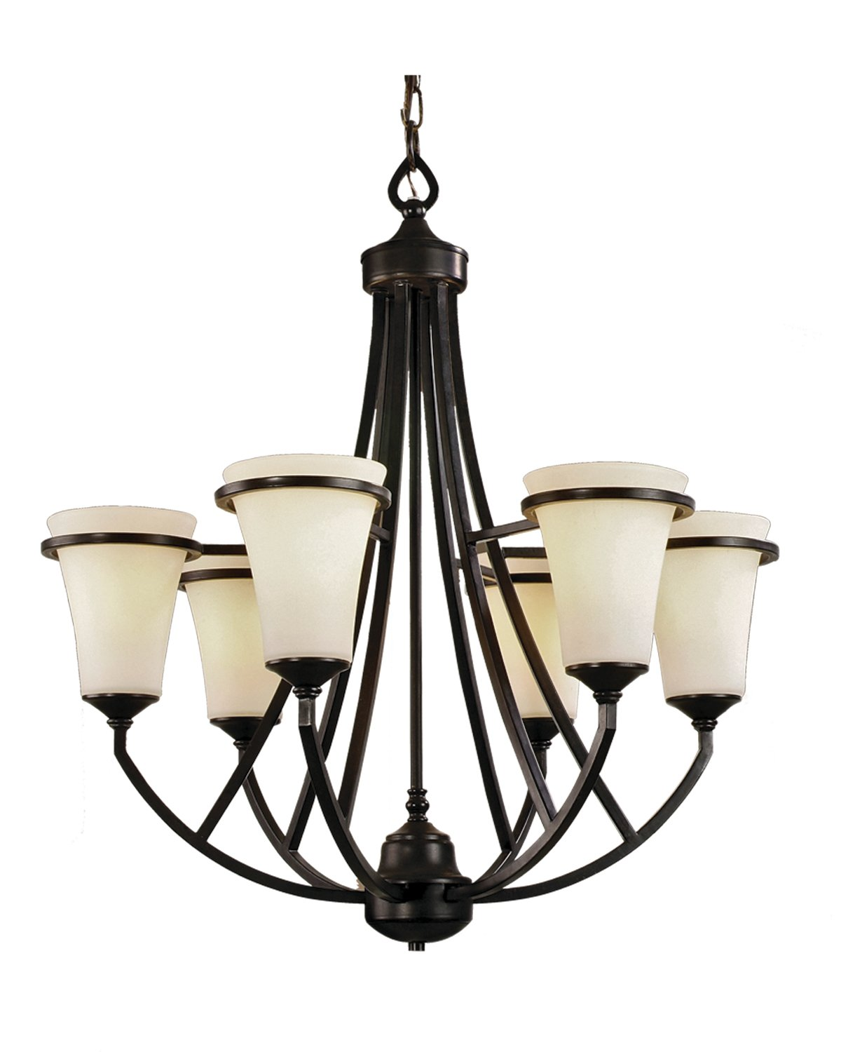 lighting 9706-abz-111 chandeliers with satin opal glass shades
