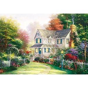 拼图1000木质拼图 花园别墅 进口材质 高档风景拼图 油画 装饰