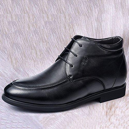 Gog 高哥 男士秋冬季内增高棉鞋男鞋6cm增高鞋男式棉靴加绒保暖真皮鞋