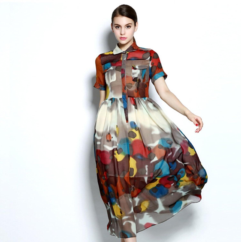 服饰-斑点收腰连衣裙图片