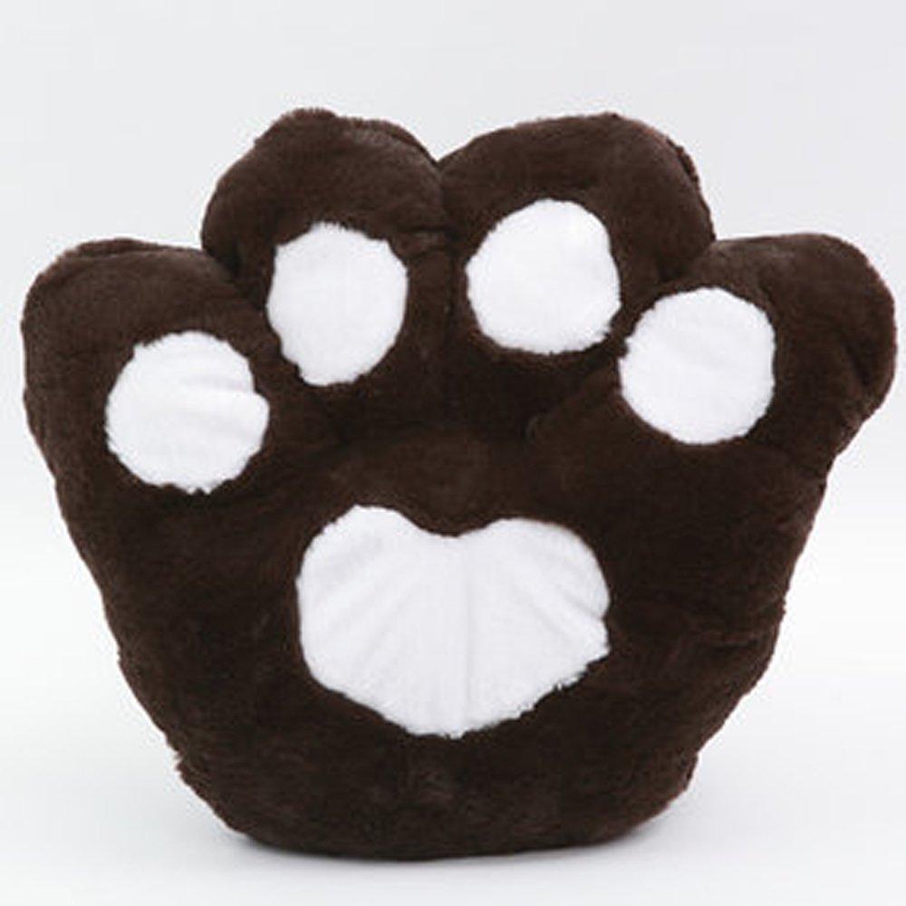 可爱卡通爪子熊掌坐垫抱枕靠垫大号毛绒熊爪