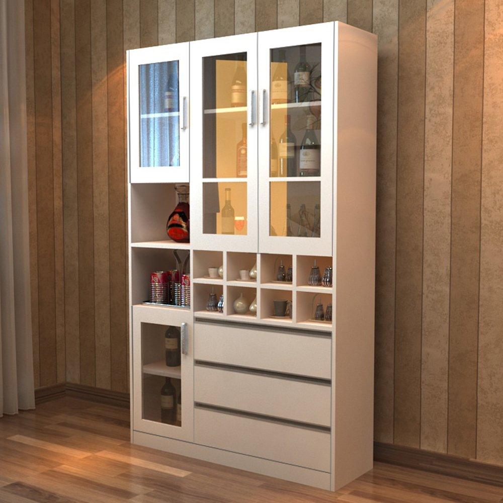 蜗爱 简约现代环保板式餐厅家具酒柜带抽玄关门厅间隔多功能储物柜 酒图片