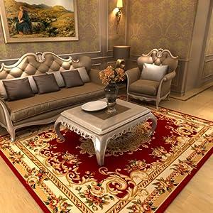 客厅茶几餐厅地毯卧室羊毛地垫 欧式立体雕花布艺混纺