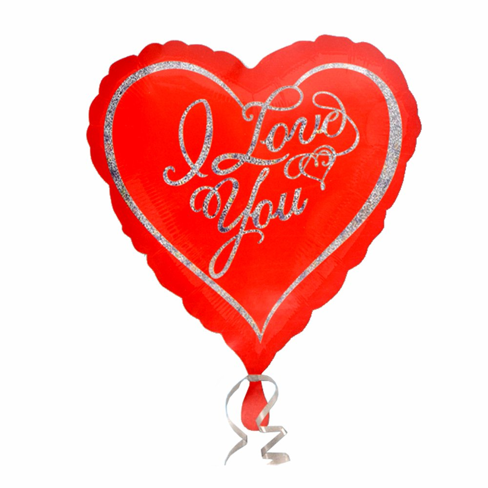 anagram 45cm心形iloveyou婚庆爱心铝膜气球 20782图片