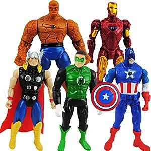 美国队长 雷神  产品名称:5款复仇者联盟公仔套装  产品类型:手办模型