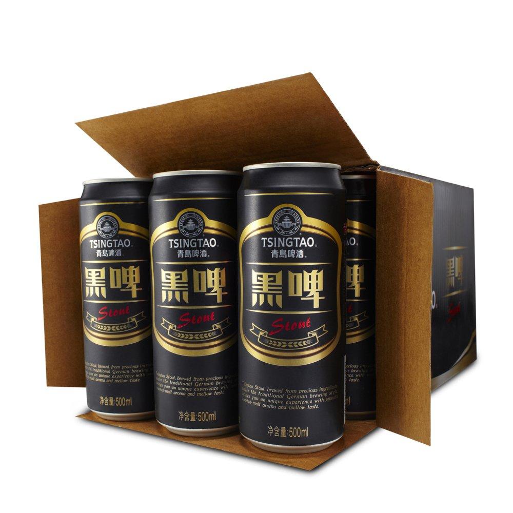tsingtao 青岛啤酒 黑啤 500ml*12听 德国风味啤酒 官方直营正品保障