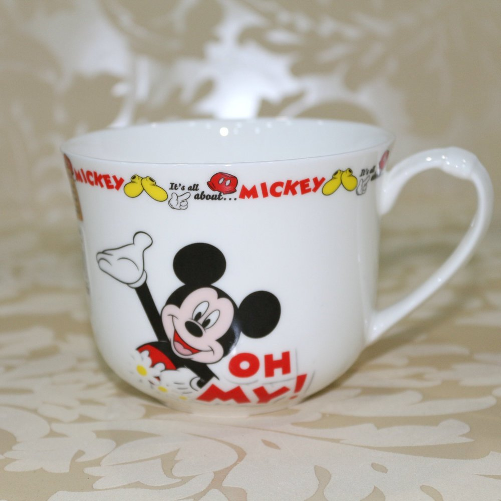 arst 雅诚德 杯子 迪士尼 米奇可爱卡通杯水杯早餐杯骨瓷杯牛奶杯