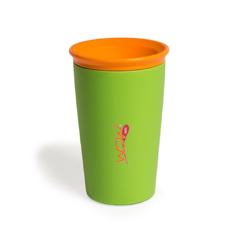 美国安思培wow cup魔术杯防漏防摔儿童宝宝学饮水杯训练杯 绿色 266ml