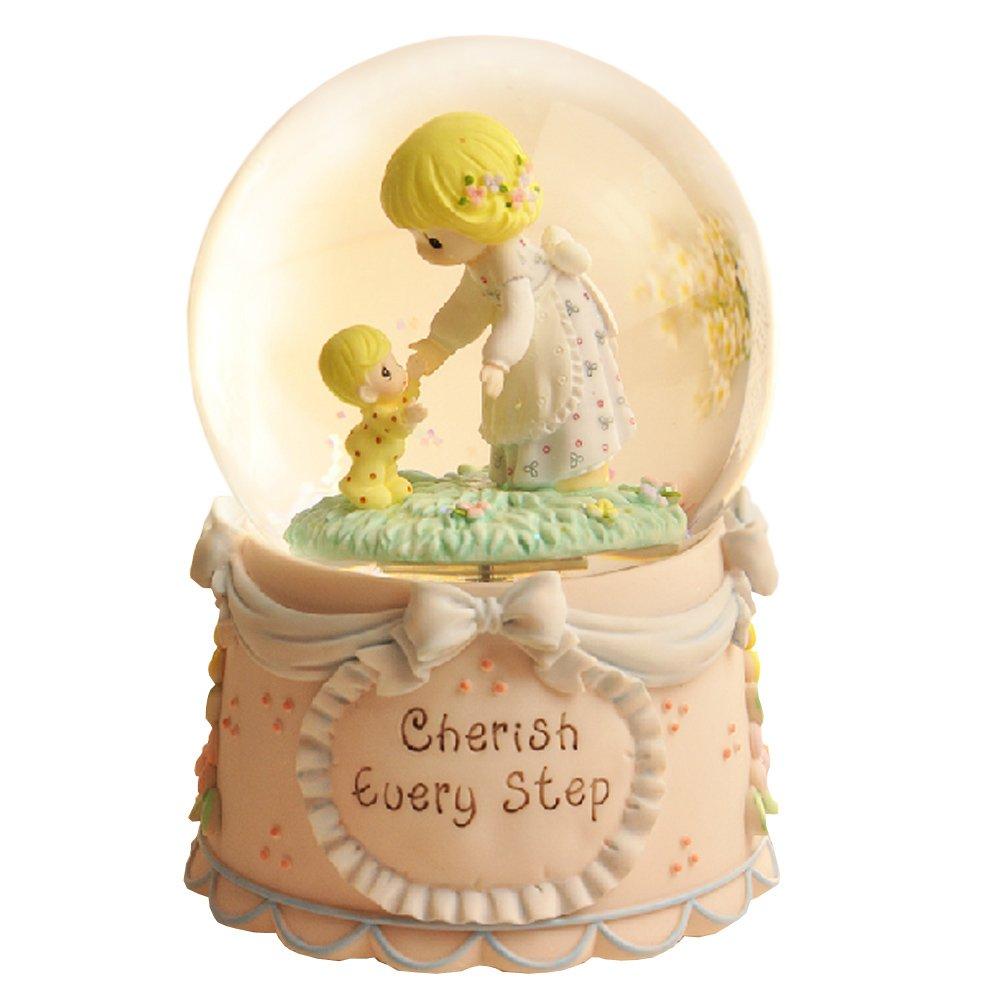 娃娃 正版 母子情深水晶球音乐盒 圣诞礼物 生日礼物 陶瓷工艺品 树脂
