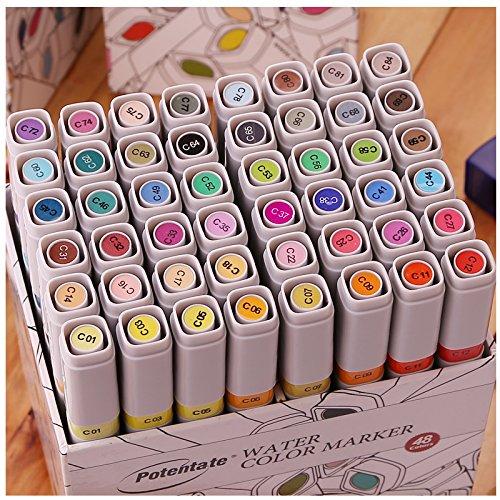 威艾斯 遵爵48色 水性双头马克笔手绘室内建筑设计套装,48色套装!