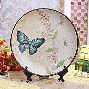 doolans 朵兰舍 欧式美式乡村复古手绘陶瓷装饰盘摆盘