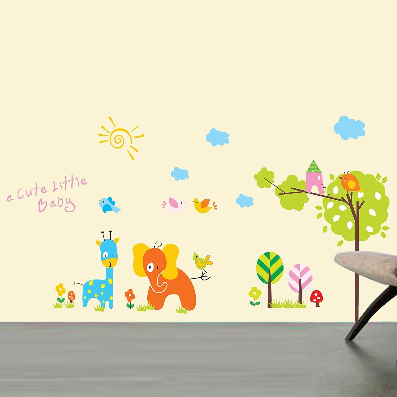 可爱小动物 墙贴纸