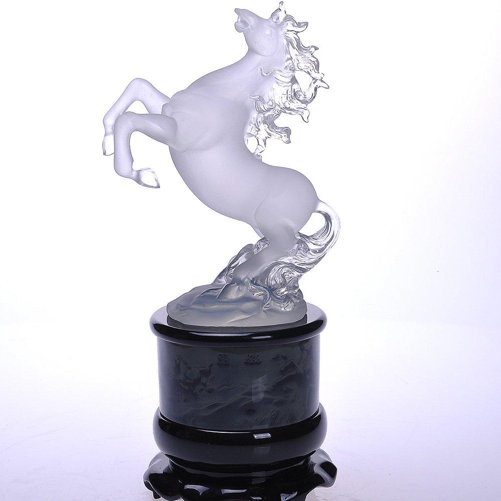 尚韵 树脂工艺 家居摆件 水晶马 现代办公室装饰品 开业商务礼品