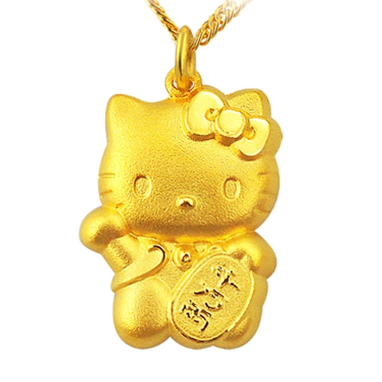 周生生 黄金(足金)hello kitty招财吊坠 57514p