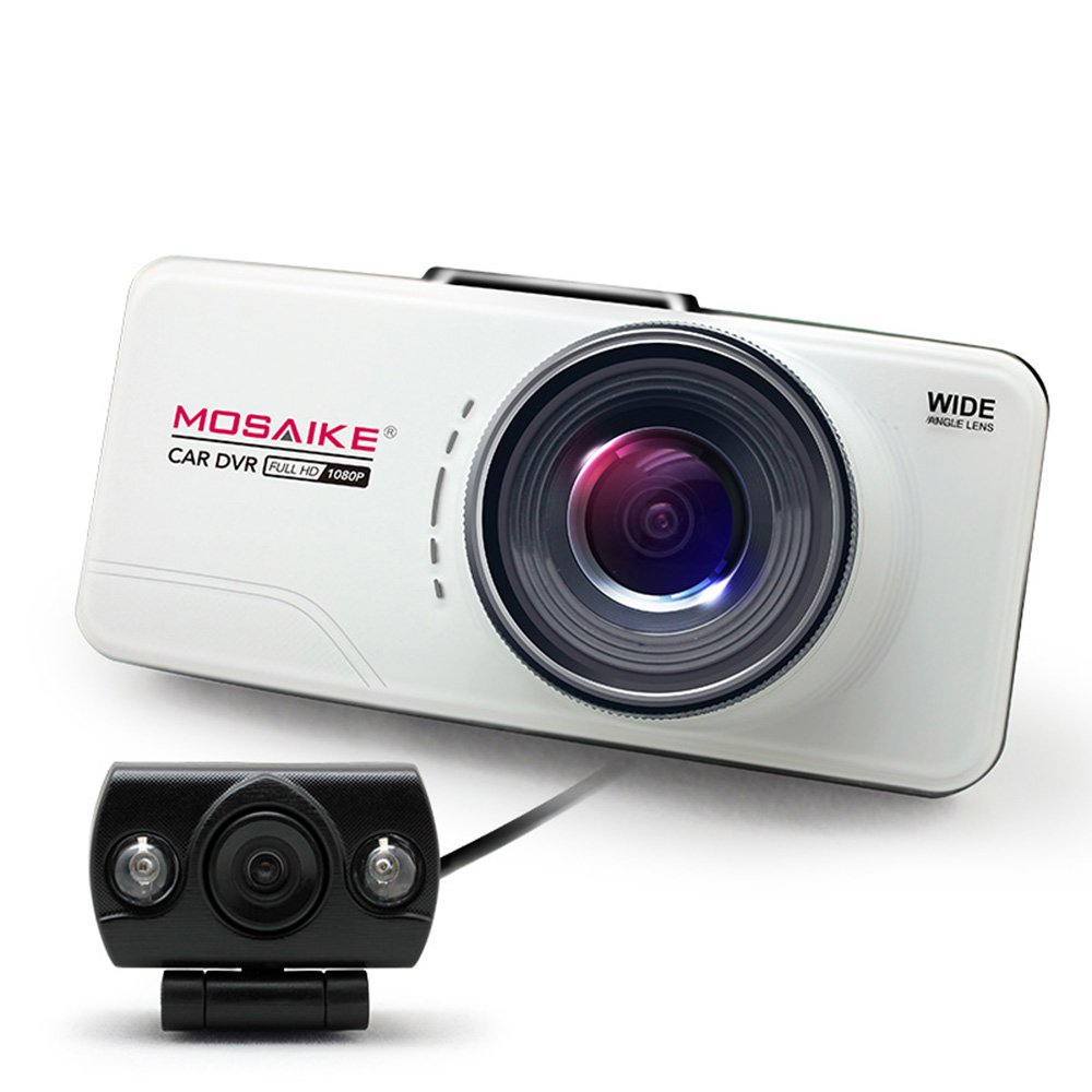 mosaike 摩赛克 s380 行车记录仪 双镜头 高清 广角 夜视 超高清1080p