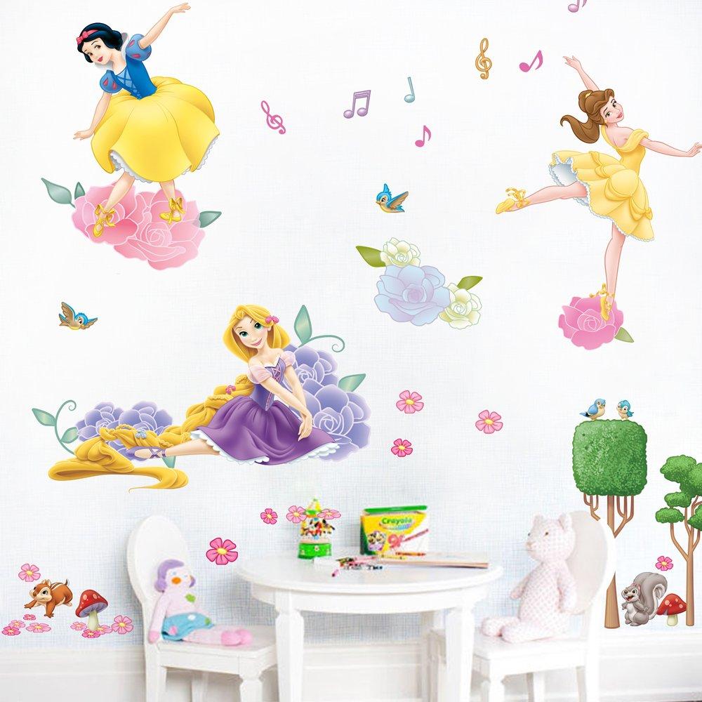 迪士尼公主墙贴纸 儿童房音乐舞蹈训练教室布置装饰贴画 芭蕾公主图片