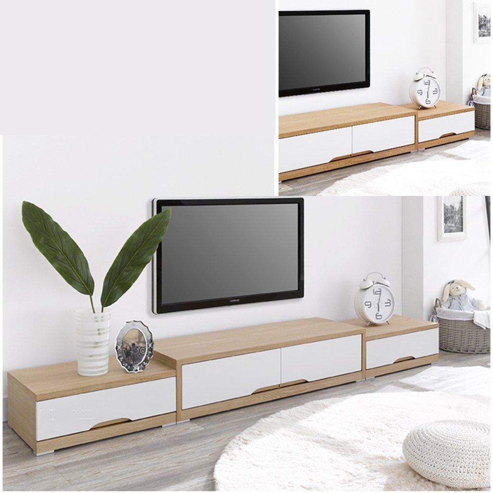 日韩潮流客厅试听柜 板式时尚电视柜家具定制包邮 (浅胡桃木色 珍珠白