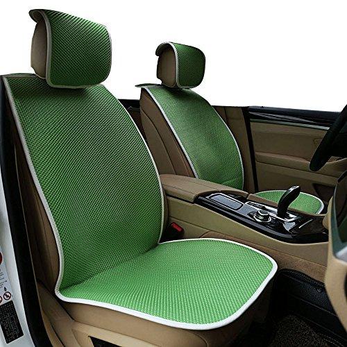 MR.MA马先生 汽车座垫冰丝亚麻四季通用坐垫硅胶防滑免绑舒适版速腾新宝来福克斯雅 (绿色)-图片
