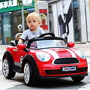 mini宝马充气橡胶胎儿童电动车四轮双驱