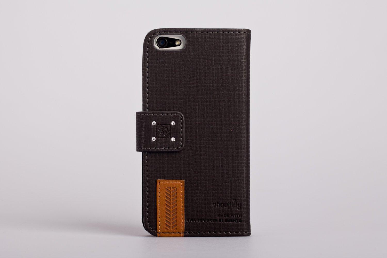 手机工坊 iphone 5s/5彩钻压花皮套 手机套 手机壳 黑色龙纹