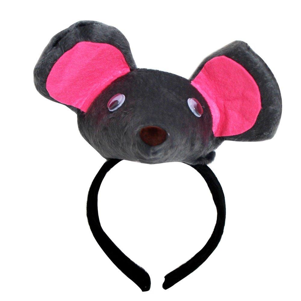 年会道具年会用品儿童动物头饰道具儿童演出表演头饰立体小老鼠头饰头