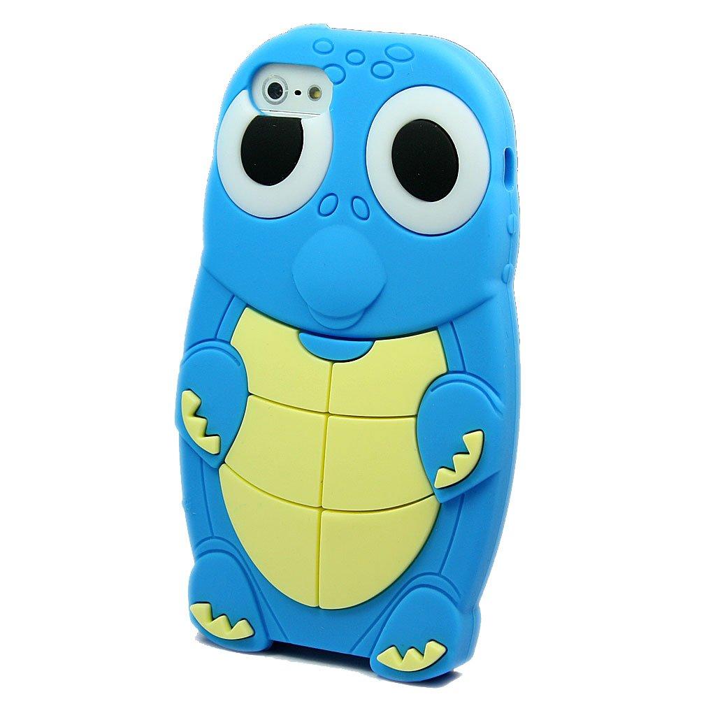 爱文卡仕 苹果 iphone 5 5g 手机壳 手机套 硅胶 海龟 蓝色   屏保