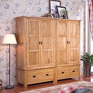 aegean 柏乐居 橡木衣柜 实木家具 美式橡木质 大衣柜
