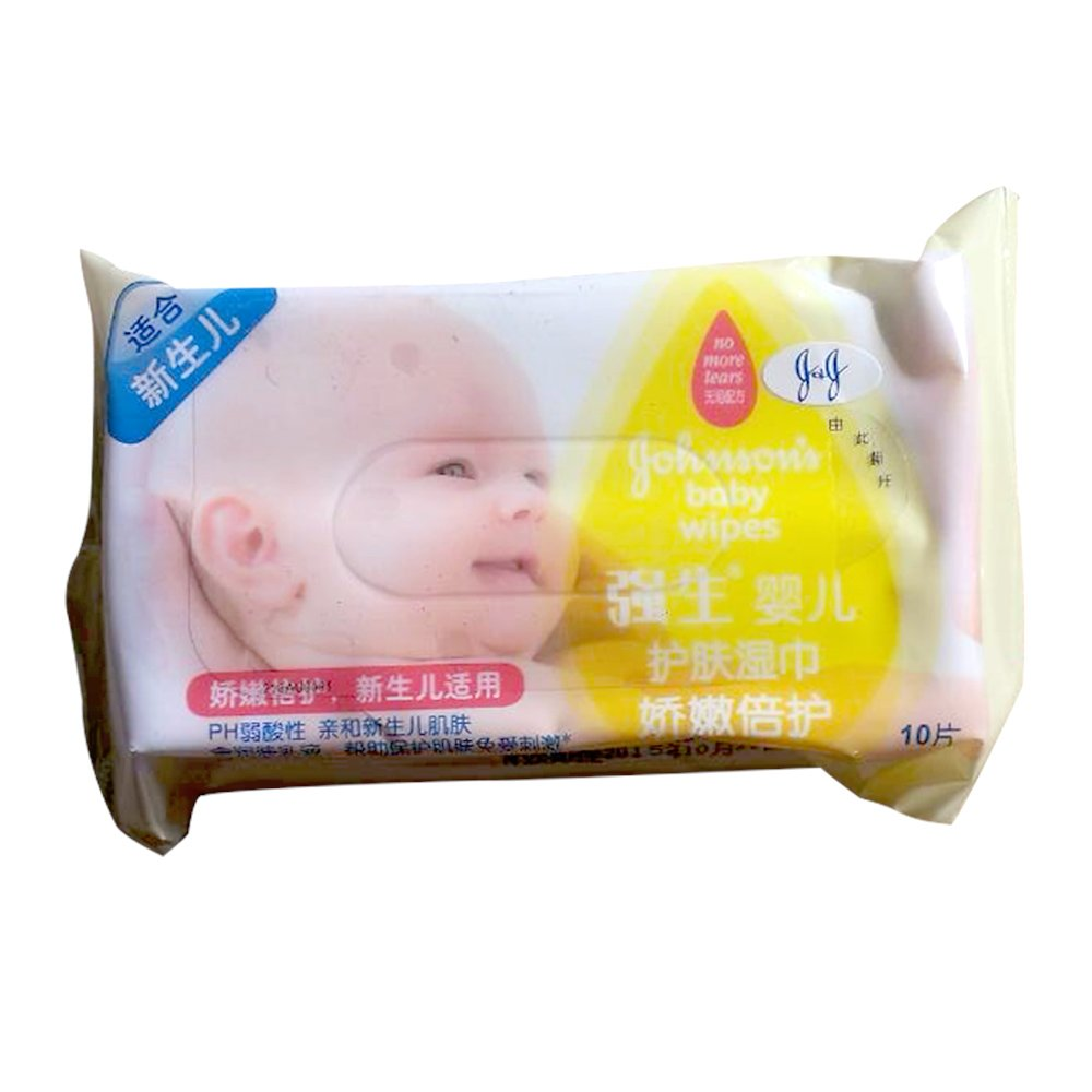 Johnson强生婴儿倍柔护肤湿巾温和 无香型10片 温和清洁 远离红屁股1元(建议凑单买)