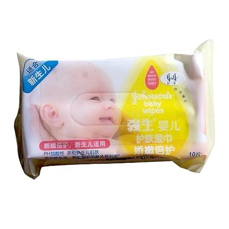 凑单品 Johnson 强生 婴儿倍柔护肤湿巾温和 无香型 10片 1元