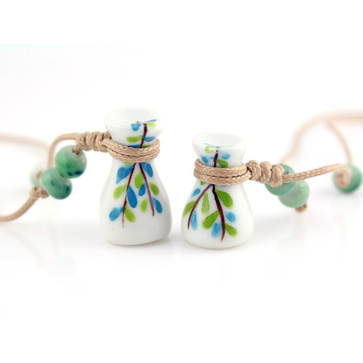 手上功夫 手工制作 瓶瓶安安 手绘陶瓷小瓶子 情侣瓶