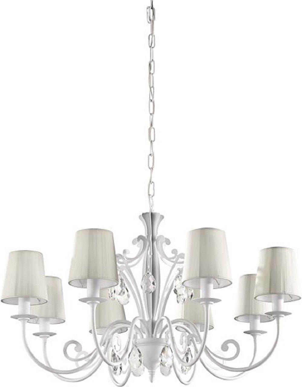 飞利浦水晶吸顶灯 客厅卧室吊灯 欧式奢华八头 不含光源 白色