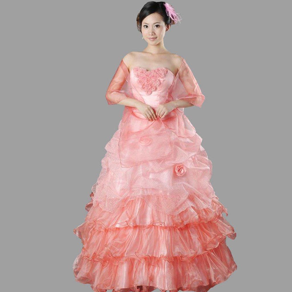 抹胸蓬蓬裙婚纱手绘图片