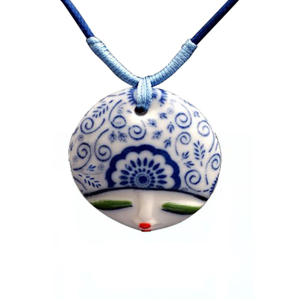 青花瓷手绘花之魅个性吊坠t0312-珠宝首饰